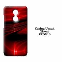 Casing XIAOMI REDMI 5 3D red Custom Hard Case Cover