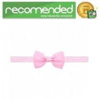 Bando Bayi Bowknot Newborn Lucu Model Pita - Pink