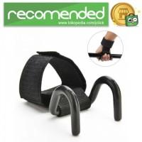 Strap Tangan Angkat Beban Adjustable Hook Grip Strength Training - Hit