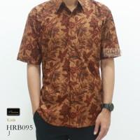 Risna Batik HRB095 J Hem Kemeja Batik Pria Lengan Pendek Halus Premium