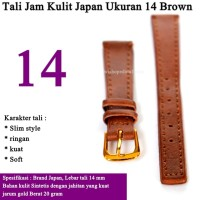 Tali Jam Tangan Kulit Ukuran 14 mm BROWN