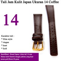 Tali Jam Tangan Kulit Ukuran 14 mm COFFEE