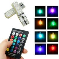 LAMPU LED T10 MOBIL MOTOR RGB 6 MATA JELLY ISI 2PCS + REMOTE E051