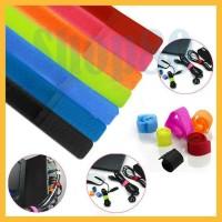 Velcro strap binder cable–pengikat / klip / penjepit kabel organizer