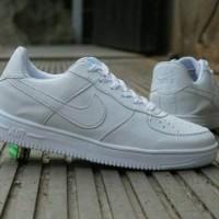 Sepatu Wanita - Nike Air Force 1 Low Full White - GO 9372f383ca