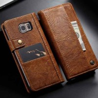 Flipcase Samsung Galaxy Note 5 Wallet Flip Case Cover Casing 6 Slot