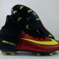 Sepatu Bola Nike Mercurial Superfly V Merah Pink Replika Impor