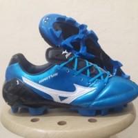 Sepatu Bola Mizuno Wave Ignitus 4 Metallic Blue FG Replika Impor