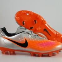 Sepatu Bola Nike Magista Opus 2 Silver Orange IC Replika Impor
