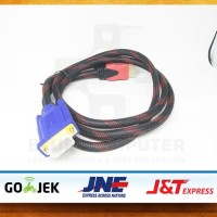 DATA CABLE KONEKTOR CONNECTOR KABEL VGA TO HDMI MONITOR LCD LED Bagus