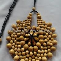 Harga kalung etnik jember kayu kopi bunga matahari putih di | Pembandingharga.com