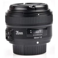 Termurah Lensa Wide Nikon YONGNUO 35mm F/2 Lens Wide Angle AF MF