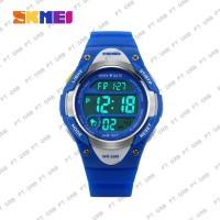 Jam Tangan Anak Wanita Digital SKMEI 1077 Blue Water Resistant 50M