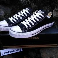 Sepatu Converse All star chuck taylor Low black white Original Premium