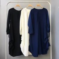 Aurora Tunic Model Baju Gamis Atasan Wanita Busana Muslim Modern