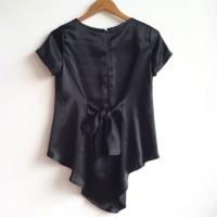 HANIFA TOP BLACK Model Baju Muslim Gamis Blouse Atasan Busana Wanita!!