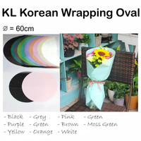 KL Korean Wrapping Oval 3 lembar - bungkus bunga - bouquet
