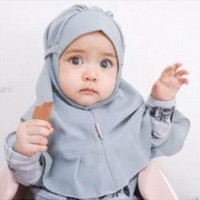Jual Jilbab Instan Anak Balita Mode Rempel Tali Belakang Matt Diamond Crepe Murah