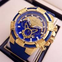 Jam Tangan Pria Invicta Bolt 24698 Gold Blue Best Clone