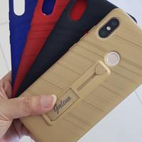 Soft Rubber Karbon Handgrip Standing Case Redmi Note 5 Pro