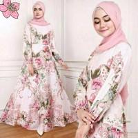 promo gamis cantik maxy bunga ima baju wanita remaja terbaru dres mur