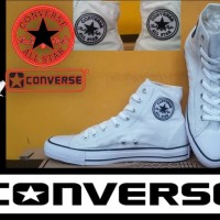 TERMURAH SEPATU CONVERSE ALL STAR HIGH PUTIH + BOX GRADE ORIGINAL