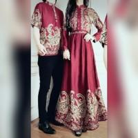 Jual Couple batik queena baju muslim pasangan queen sarimbit murah Murah