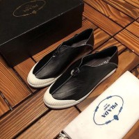 Sepatu PRADA Kulit Pria Sneakers Mirror Quality 1:1