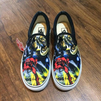 Sepatu Vans Slip On Iron Maiden Premium BNIB