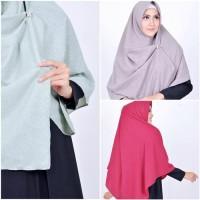 Hijab Rinjani Klim Embos, Kerudung Segi Empat, Hijab Instan Muslimah