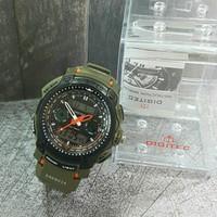 Jam Tangan Pria Digitec Dual Time Green Original