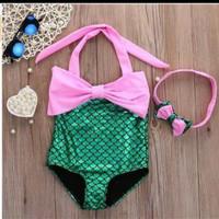 Baju renang bayi cewek import branded swimsuit baby sexy mermaid kids