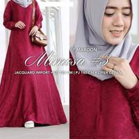 Elegan branded mewah gamis baju muslim polos pesta dress maxi long