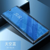 FLIP COVER STAND SVIEW Samsung A8 - A8 Plus 2018 mirror case auto lock
