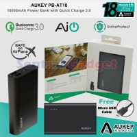 Powerbank Aukey PB-AT10 10050mAh Qualcomm Quick Charge 3.0 Resmi ORI