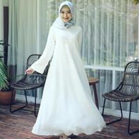 Gamis putih / Gamis polos busui / Baju pengajian murah : White dress