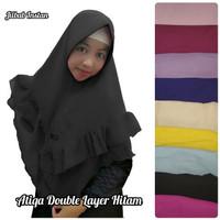 Jilbab Kerudung Khimar Instan Atiqa Double Layer Hitam