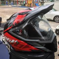 Helm AGV AX8 Evo Dual RED KARAKUM XXL supermoto arai tour cross airoh