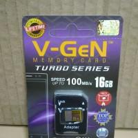 MicroSD V-GeN Turbo 16GB Class 10 + Adapter Micro SD Memory HP VGEN