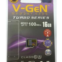 MicroSD V-GeN Turbo 16GB Class 10 Micro SD VGEN Memory HP 16 GB NA
