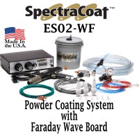 SPECTRACOAT ES02-WF Powder Coating System With Faraday Wave Board.