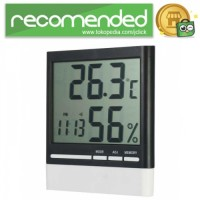 Jam Alarm LED Weather Station Thermometer - CX-318 - Putih