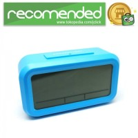 Smart Timepiece Backlight Alarm Clock JP9901-2 - Biru