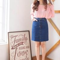 Rok Jeans Wanita - Skirt Jeans kombinasi 8150 dan 8151