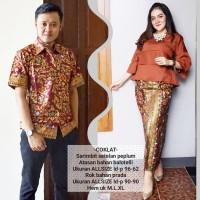 baju couple batik buat kondangan acara resepsi warna coklat BSG606