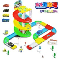 MAINAN ANAK LOT PARKING CARS WITH 4 PCS DIE CAST ALLOY CARS AREA TRACK