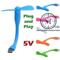 Jual Kipas Angin USB MINI Fleksibel Fan Flexyble langsung Power Bank Laptop Murah