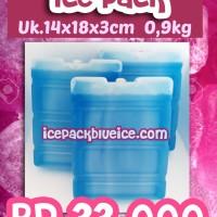 ICE PACK SEDANG GARIS -Blue es Pack - Ice Pack Cool - freezer portable