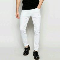 Celana Jeans Panjang Pria Skinny Slimfit Putih