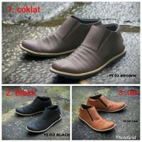 TOPSELLER! Sepatu Boots Zipper Pria Murah Nike Adidas Adventure Kerja.